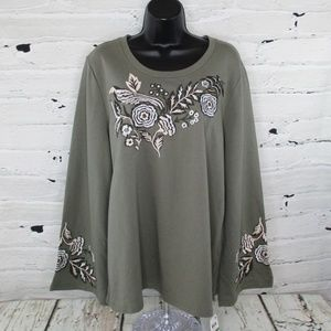 Style & Co Embroidery Accented Sweatshirt